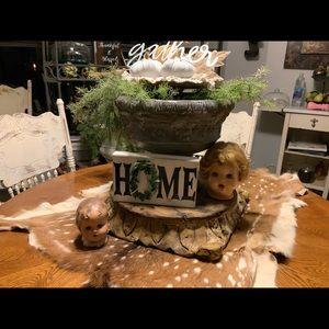 "Farmhouse Style ""HOME"" shelf sitter"
